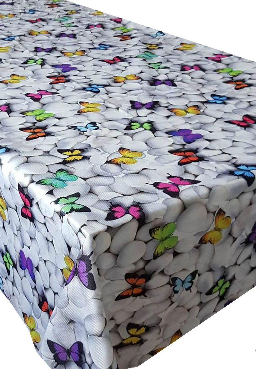 Скатерть Ambesonne Бабочки на камнях, квадратная, 150 x 150 см