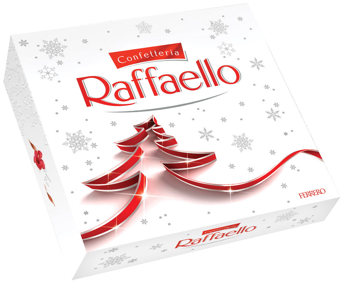 Raffaello конфеты с цельным миндальным орехом в кокосовой обсыпке, 240 г chokocat поздравляю темный шоколад 85 г