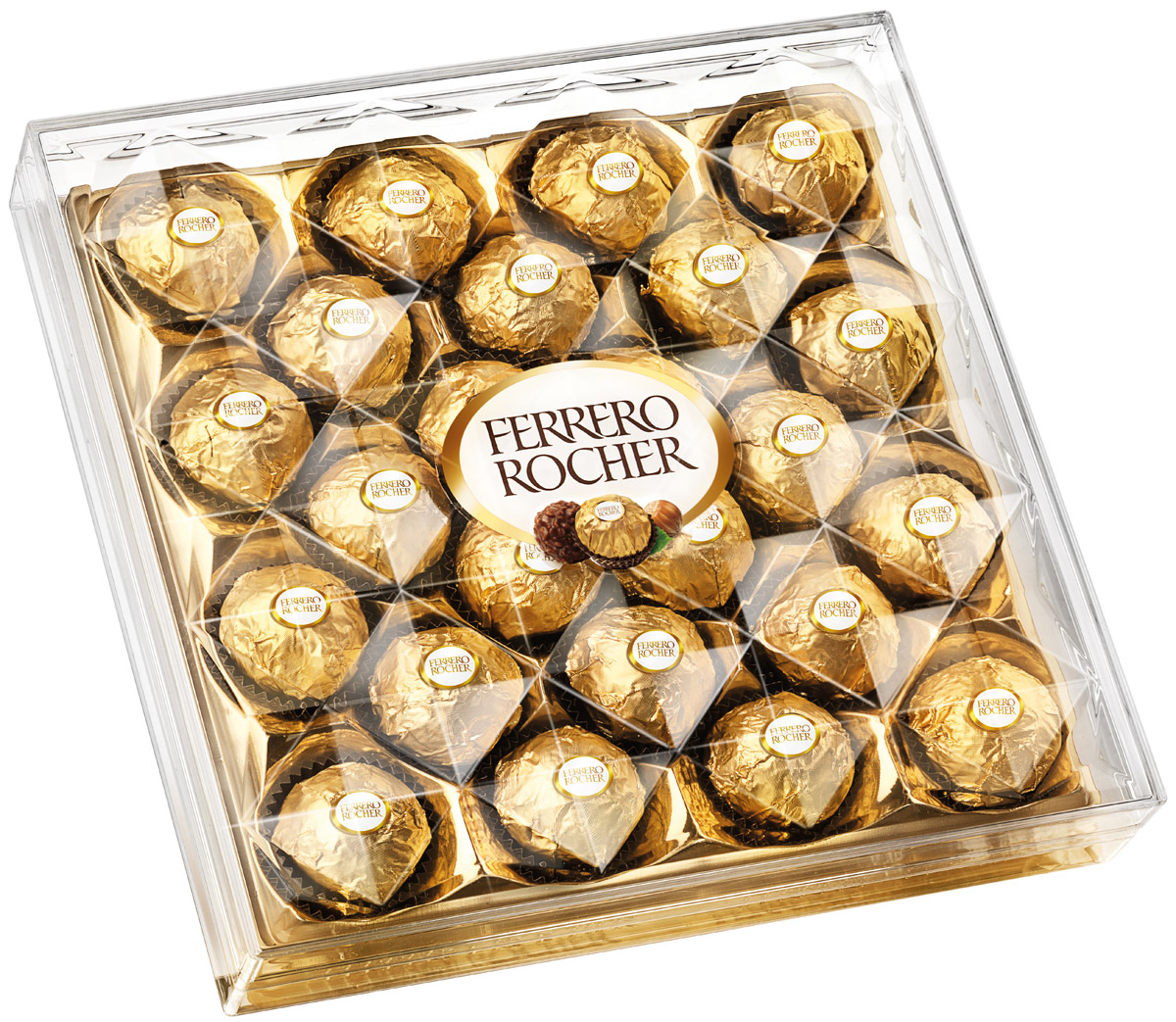 Ferrero Rocher конфеты хрустящие из молочного шоколада, покрытые измельченными орешками, с начинкой из крема и лесного ореха, 300 г kinder choco bons конфеты из молочного шоколада с молочно ореховой начинкой 125 г