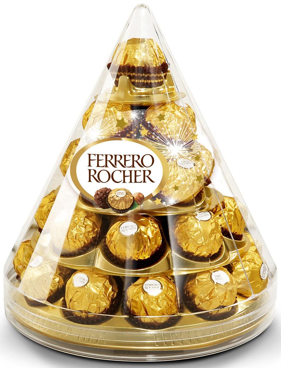 Ferrero Rocher конфеты хрустящие из молочного шоколада, покрытые измельченными орешками, с начинкой из крема и лесного ореха, 357 г77116593/77098313/77084347Отборный цельный лесной орех в окружении молочного шоколада и нежного орехового крема, заключенные в хрустящую вафельную оболочку, покрытую шоколадно-ореховой крошкой.