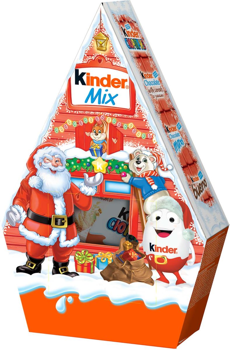 Kinder Mix набор: Kinder Surprise, Kinder Chocolate со злаками, Kinder Chocolate Maxi, Kinder Chocolate (50 г), Kinder Bueno, 199 г tivoli audio palbtgb pal bt bluetooth portable am fm radio