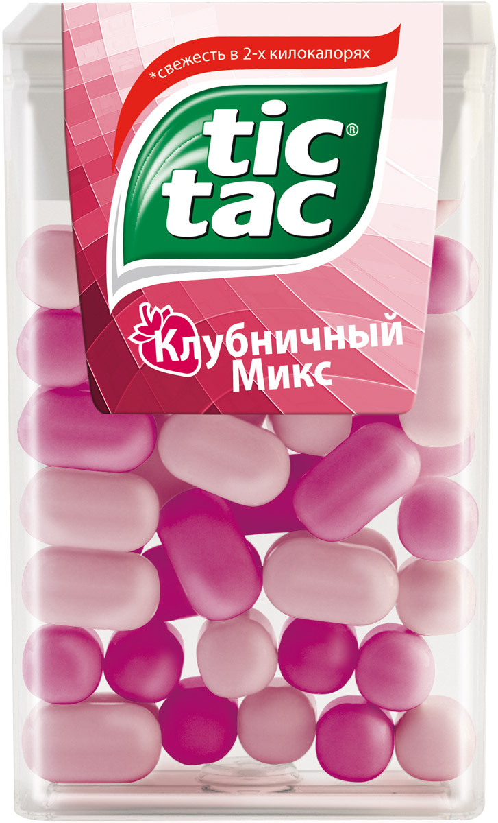Tic Tac Клубничный микс драже, 16 г