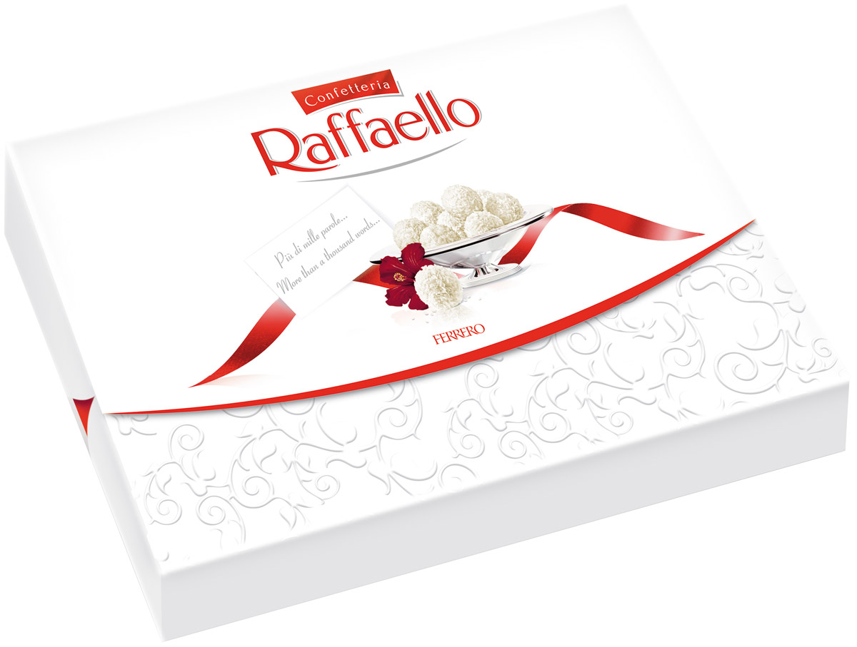 Raffaello конфеты с цельным миндальным орехом в кокосовой обсыпке, 90 г