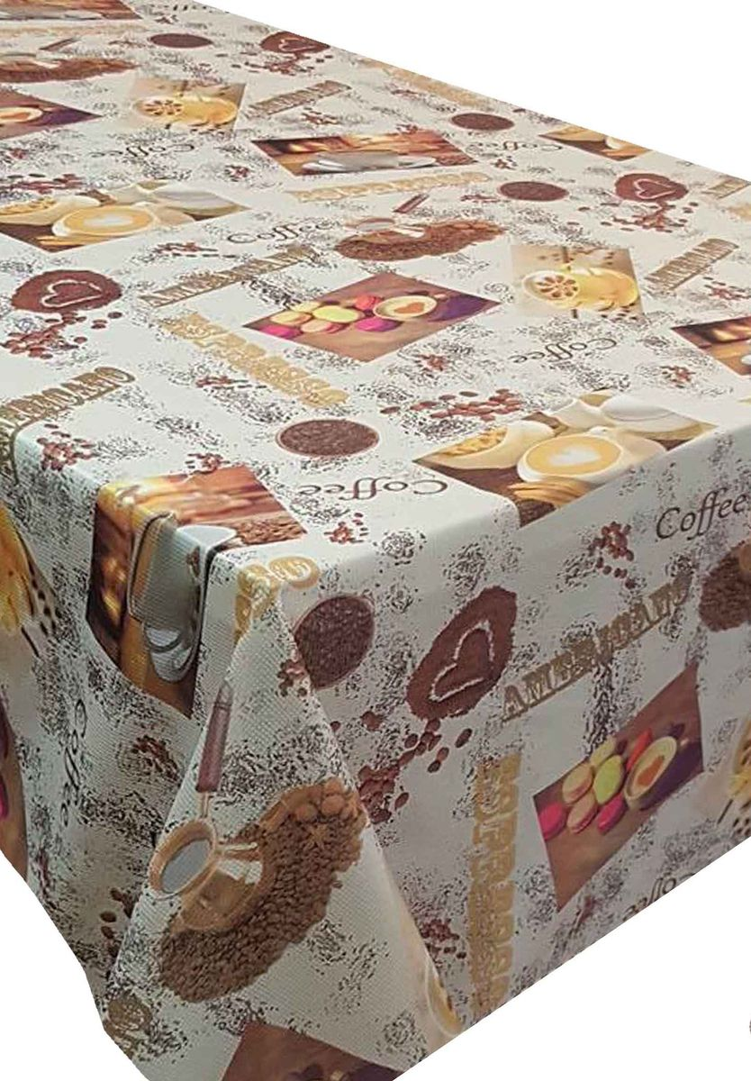 Скатерть Ambesonne Кофе и маффины, квадратная, 150 x 150 см