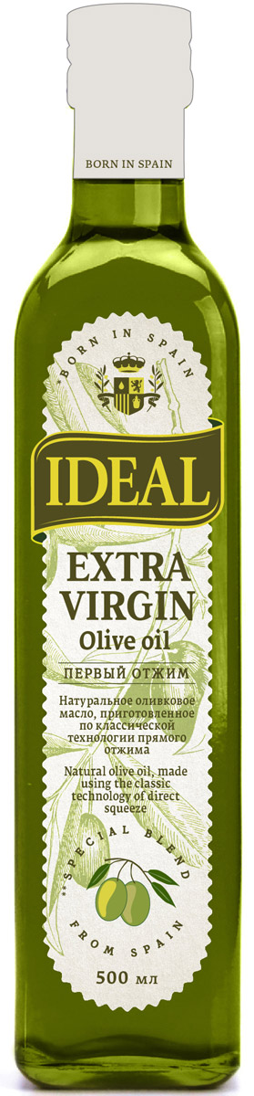Ideal Extra Virgin масло оливковое, 0,5 л ideal маслины с косточкой extra class 300 г
