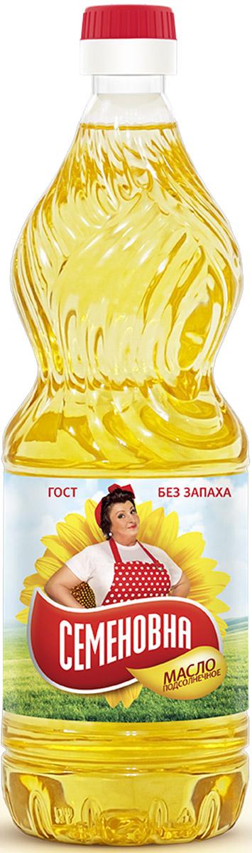 Семеновна масло подсолнечное рафинированное, 0,9 л11273Натуральное универсальное высококачественное подсолнечное масло. Подходит для салатов и соусов, для жарки, фритюра.
