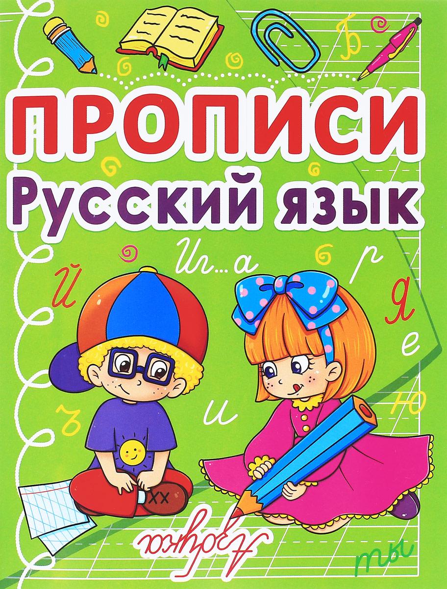 Русский язык. Прописи веер цифр и букв
