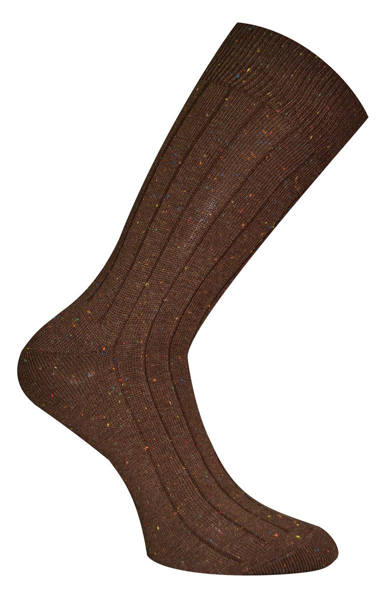 Носки мужские Master Socks Soft Cotton, цвет: коричневый. 88108. Размер 2788108Носки Master Socks Soft Cotton изготовлены из натурального хлопка, акрила и полиамида с добавлением эластана, который обеспечивает отличную посадку. Модель с удлиненным паголенком оформлена оригинальным принтом. Эластичная резинка плотно облегает ногу, не сдавливая ее, обеспечивает удобство.