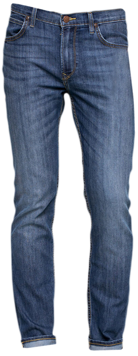 Джинсы мужские Lee Rider, цвет: синий. L701ACDK. Размер 30-32 (46-32)L701ACDKМужские джинсы выполнены из хлопка и эластомультиэстера. Модель застегивается на пуговицу в талии и ширинку на молнии. Спереди джинсы дополнены двумя втачными карманами и одним маленьким накладным карманом, сзади двумя накладными карманами.