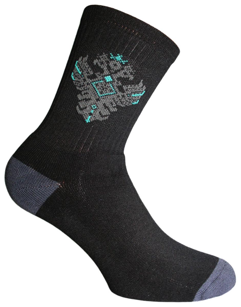 Носки мужские Master Socks, цвет: черный. 58204. Размер 2758204Носки Master Socks изготовлены из натурального хлопка, полиамида и эластана, которые обеспечивают отличную посадку. Модель с удлиненным паголенком оформлена оригинальным принтом. Эластичная резинка плотно облегает ногу, не сдавливая ее, обеспечивает удобство.