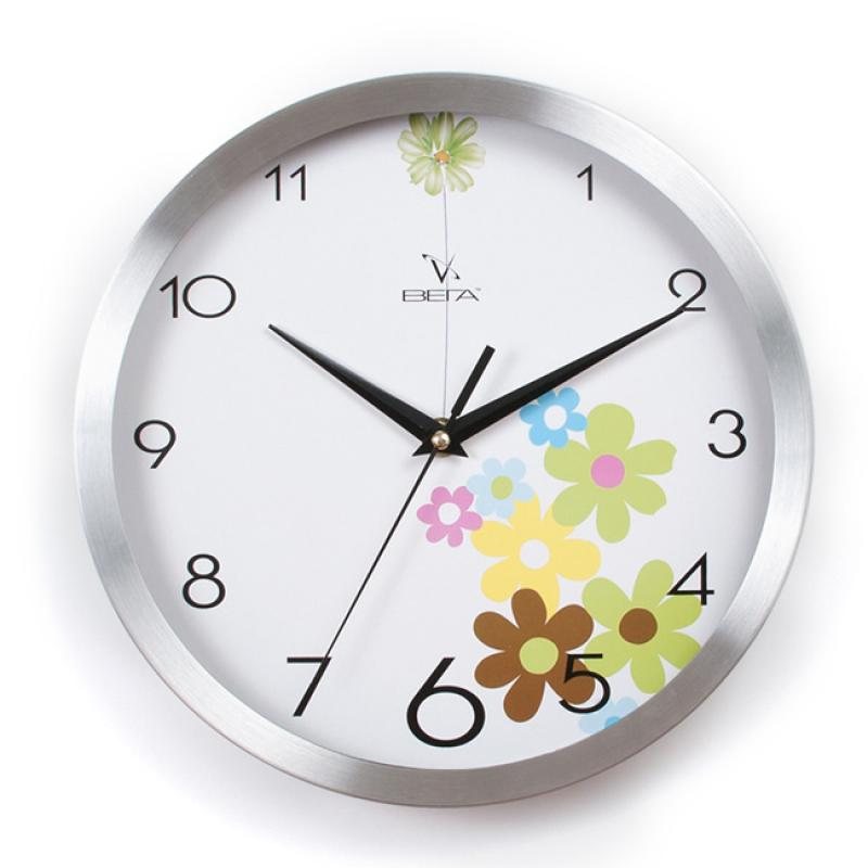 Часы настенные Вега Цветочная поляна, диаметр 25 смY9104;Y9104Настенные кварцевые часы Вега Цветочная поляна в классическом дизайне,изготовленные из пластика, прекрасно впишутся в интерьервашего дома. Круглые часы имеют три стрелки: часовую,минутную и секундную, циферблат защищен прозрачным стеклом.Часы работают от 1 батарейки типа АА напряжением 1,5 В (не входит в комплект).Диаметр часов: 25 см.