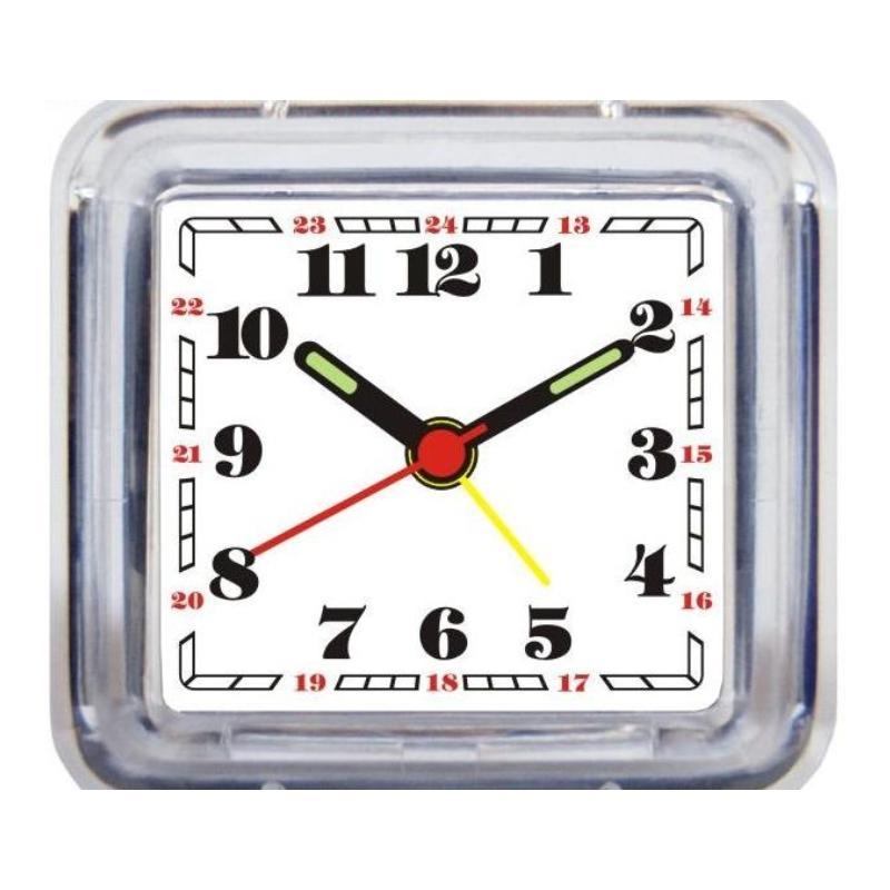 Часы-будильник Вега Классика. Б1-020Б1-020Настольные кварцевые часы Вега Классика изготовлены из прозрачного пластика. Часы имеют четыре стрелки - часовую, минутную, секундную и стрелку завода.Такие часы красиво и оригинально украсят интерьер дома или рабочий стол в офисе. Также часы могут стать уникальным, полезным подарком для родственников, коллег, знакомых и близких.Часы работают от батарейки типа АА (в комплект не входит). Имеется инструкция по эксплуатации на русском языке.
