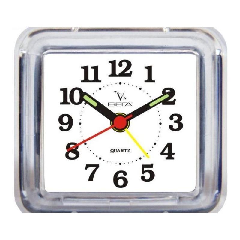 Будильник Вега Классика. Б1-021Б1-021Настольные кварцевые часы Вега Классика изготовлены из прозрачного пластика. Часы имеют четыре стрелки - часовую, минутную, секундную и стрелку завода.Такие часы красиво и оригинально украсят интерьер дома или рабочий стол в офисе. Также часы могут стать уникальным, полезным подарком для родственников, коллег, знакомых и близких.Часы работают от батарейки типа АА (в комплект не входит). Имеется инструкция по эксплуатации на русском языке.