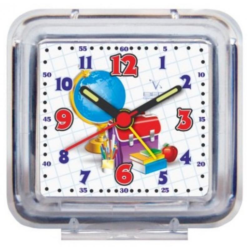 Часы-будильник Вега ШколаБ1-047Настольные кварцевые часы Вега Школа изготовленыиз прозрачного пластика. Часы имеют четыре стрелки -часовую, минутную, секундную и стрелку завода. Такие часы красиво и оригинально украсят интерьер домаили письменный стол ученика. Также часы могут статьуникальным, полезным подарком для родственников,друзей, знакомых и близких.Часы работают от батарейки типа АА (в комплект невходит). Имеется инструкция по эксплуатации на русскомязыке.