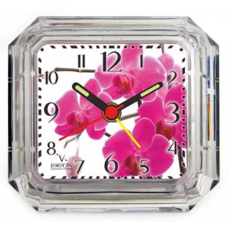 Часы-будильник Вега. Б1-049Б1-049Настольные кварцевые часы Вега изготовленыиз прозрачного пластика. Часы имеют четыре стрелки -часовую, минутную, секундную и стрелку завода. Такие часы красиво и оригинально украсят интерьер домаили рабочий стол в офисе. Также часы могут статьуникальным, полезным подарком для родственников,коллег, знакомых и близких.Часы работают от батарейки типа АА (в комплект невходит). Имеется инструкция по эксплуатации на русскомязыке.