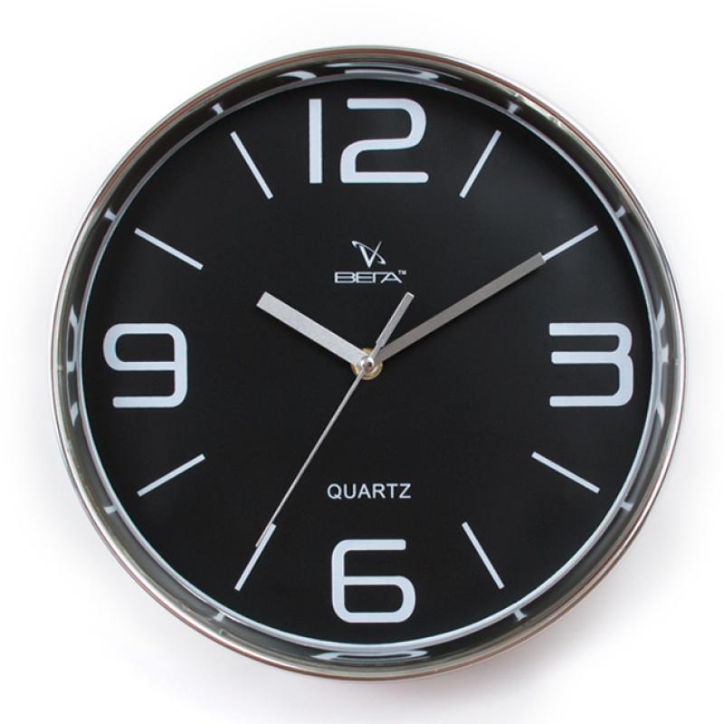 Часы настенные Вега Черная классика, диаметр 28 смН0257Настенные кварцевые часы Вега Черная классика, изготовленные из пластика, прекрасно впишутся в интерьер вашего дома. Круглые часы имеют три стрелки: часовую, минутную и секундную, циферблат защищен прозрачным стеклом.
