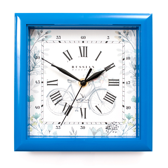 Часы настенные Вега Летний отдыхП3-4-126Оригинальные настенные часы квадратной формы Вега Летний отдых выполнены из пластика. Часы имеют три стрелки - часовую, минутную исекундную. Необычное дизайнерское решение и качество исполнения придутся по вкусу каждому. Оформите свой дом таким интерьернымаксессуаром или преподнесите его в качестве презента друзьям, и они оценят ваш оригинальный вкус и неординарность подарка. Часы работают от 1 батарейки типа АА напряжением 1,5 В (в комплект не входит).