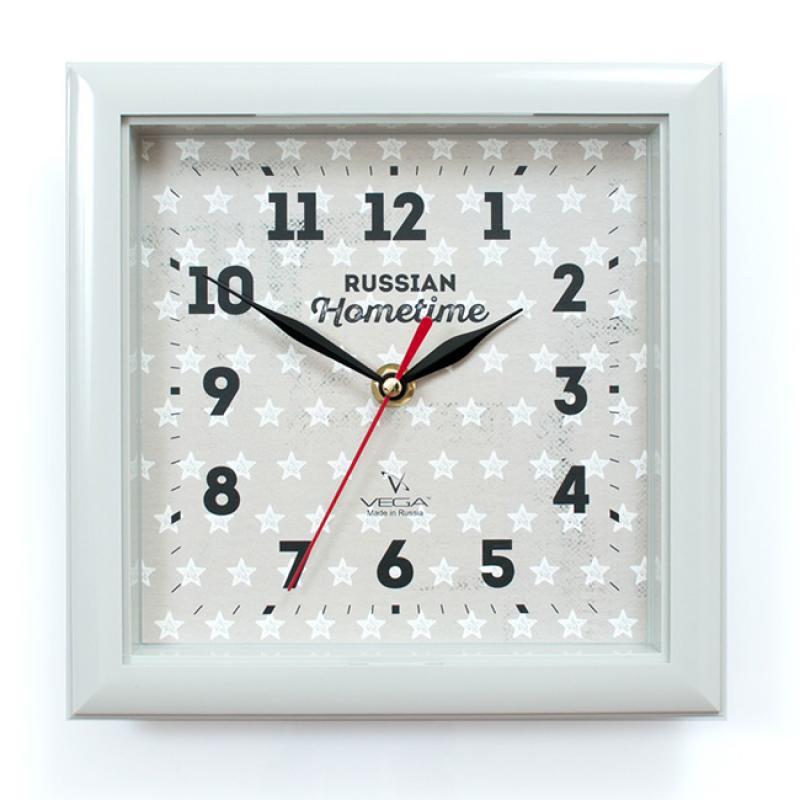 Часы настенные Вега ЗвездыП3-5-129Оригинальные настенные часы квадратной формы Вега Звёзды выполнены из пластика. Часы имеют три стрелки - часовую, минутную и секундную. Необычное дизайнерское решение и качество исполнения придутся по вкусу каждому. Оформите свой дом таким интерьерным аксессуаром или преподнесите его в качестве презента друзьям, и они оценят ваш оригинальный вкус и неординарность подарка.Часы работают от 1 батарейки типа АА напряжением 1,5 В (в комплект не входит).