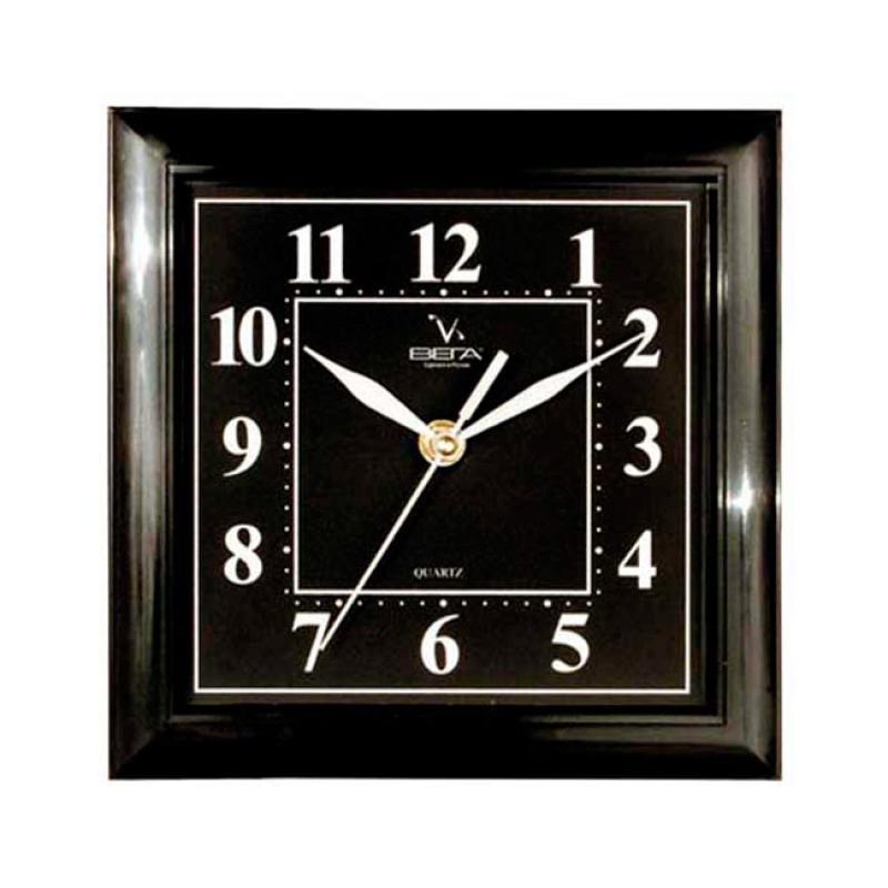 Часы настенные Вега Классика, цвет: черный. П3-6-48П3-6-48Оригинальные настенные часы квадратной формы Вега Классика выполнены из пластика. Часы имеют три стрелки - часовую, минутную и секундную. Необычное дизайнерское решение и качество исполнения придутся по вкусу каждому. Оформите свой дом таким интерьерным аксессуаром или преподнесите его в качестве презента друзьям, и они оценят ваш оригинальный вкус и неординарность подарка.Часы работают от 1 батарейки типа АА напряжением 1,5 В (в комплект не входит).