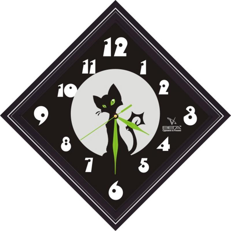 Часы настенные Вега Черный кот, 20,8 х 20,8 х 4 смП3-673-1Настенные кварцевые часы Вега Черный кот, изготовленные из пластика, прекрасно впишутся в интерьер вашего дома. Часы имеют три стрелки: часовую, минутную и секундную, циферблат защищен прозрачным стеклом.Часы работают от 1 батарейки типа АА напряжением 1,5 В (не входит в комплект).