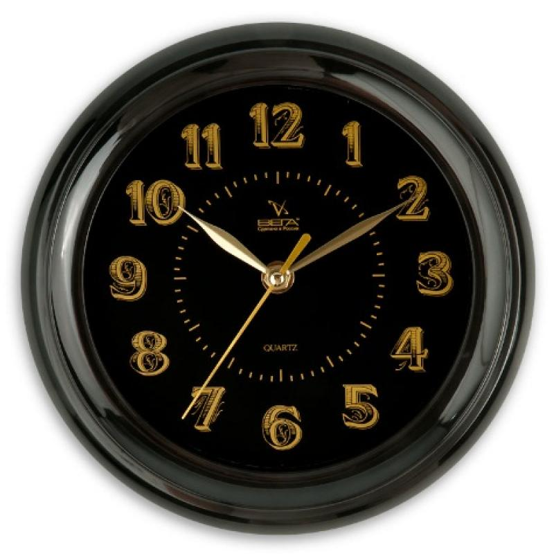 Часы настенные Вега Классика, цвет: черныйП6-6-100Оригинальные настенные часы круглой формы Вега Классика выполнены из пластика. Часы имеют три стрелки - часовую, минутную и секундную. Необычное дизайнерское решение и качество исполнения придутся по вкусу каждому. Оформите свой дом таким интерьерным аксессуаром или преподнесите его в качестве презента друзьям, и они оценят ваш оригинальный вкус и неординарность подарка. Часы работают от 1 батарейки типа АА напряжением 1,5 В (в комплект не входит).
