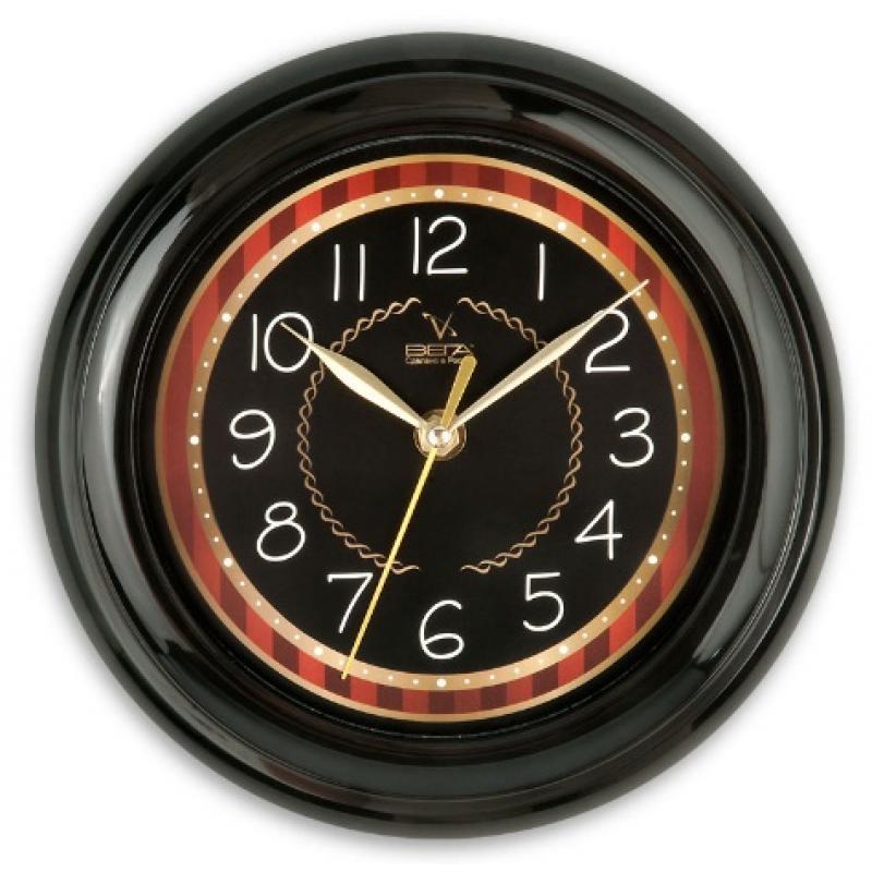 Часы настенные Вега Классика черная с бежевым кантомП6-6-91Оригинальные настенные часы круглой формы Вега Классика черная с бежевым кантом выполнены из пластика. Часы имеют три стрелки - часовую, минутную и секундную. Необычное дизайнерское решение и качество исполнения придутся по вкусу каждому. Оформите свой дом таким интерьерным аксессуаром или преподнесите его в качестве презента друзьям, и они оценят ваш оригинальный вкус и неординарность подарка. Часы работают от 1 батарейки типа АА напряжением 1,5 В (в комплект не входит).