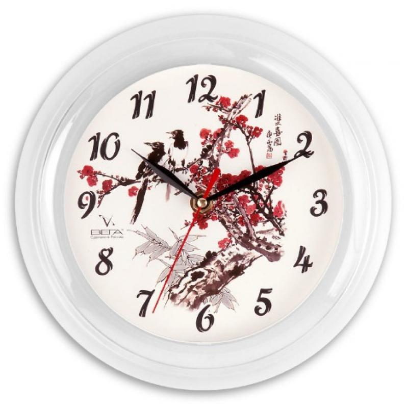 Часы настенные Вега РябинаП6-7-7Оригинальные настенные часы круглой формы Вега Рябина выполнены из пластика. Часы имеют три стрелки - часовую, минутную исекундную. Необычное дизайнерское решение и качество исполнения придутся по вкусу каждому. Оформите свой дом таким интерьернымаксессуаром или преподнесите его в качестве презента друзьям, и они оценят ваш оригинальный вкус и неординарность подарка. Часы работают от 1 батарейки типа АА напряжением 1,5 В (в комплект не входит).