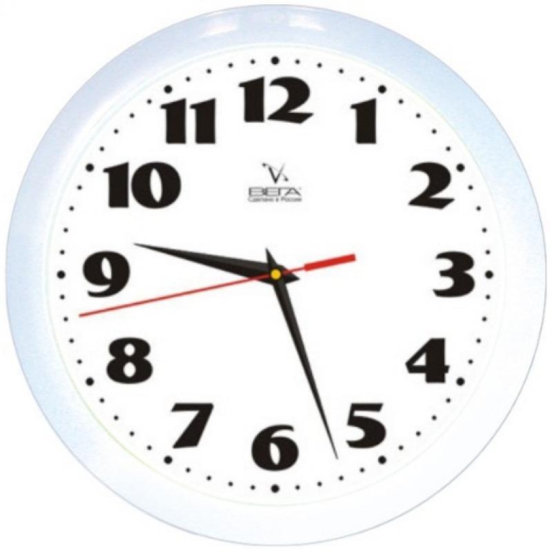 Часы настенные Вега Классика, цвет: белый. П1-7/7-45П1-7/7-45Оригинальные настенные часы круглой формы Вега Классика выполнены из пластика. Часы имеют три стрелки - часовую, минутную и секундную. Необычное дизайнерское решение и качество исполнения придутся по вкусу каждому. Оформите свой дом таким интерьерным аксессуаром или преподнесите его в качестве презента друзьям, и они оценят ваш оригинальный вкус и неординарность подарка. Часы работают от 1 батарейки типа АА напряжением 1,5 В (в комплект не входит).
