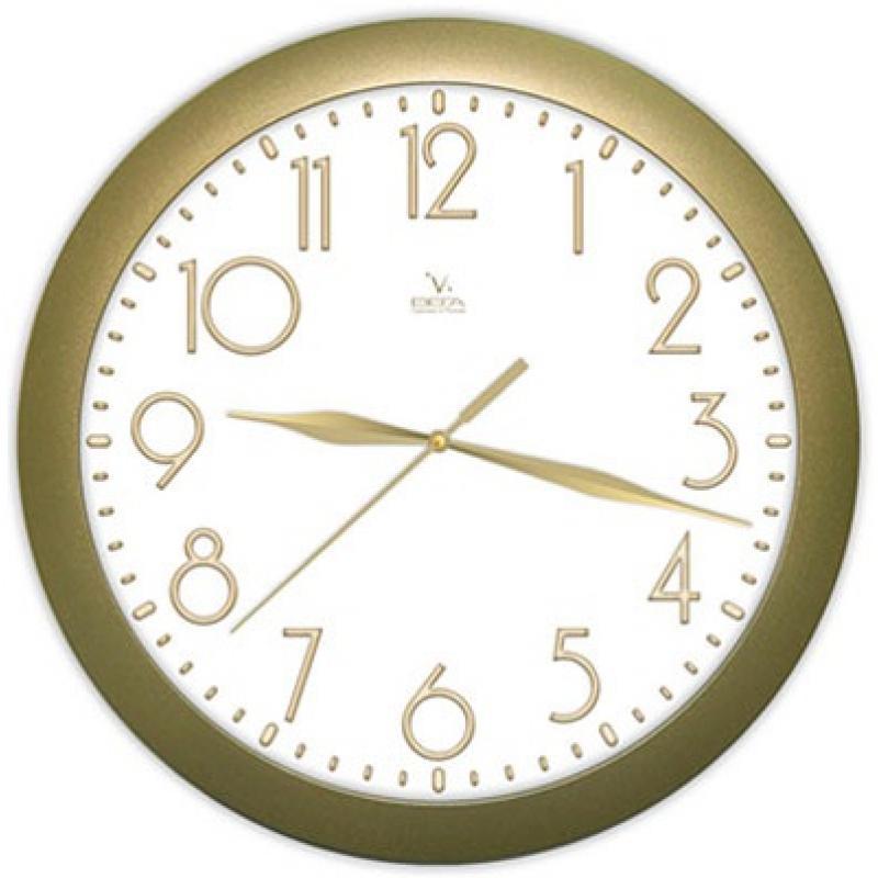 Часы настенные Вега Классика золотаяП1-8/7-215Оригинальные настенные часы круглой формы Вега Классика золотая выполнены из пластика. Часы имеют три стрелки - часовую, минутную и секундную. Необычное дизайнерское решение и качество исполнения придутся по вкусу каждому. Оформите свой дом таким интерьерным аксессуаром или преподнесите его в качестве презента друзьям, и они оценят ваш оригинальный вкус и неординарность подарка.Часы работают от 1 батарейки типа АА напряжением 1,5 В (в комплект не входит).