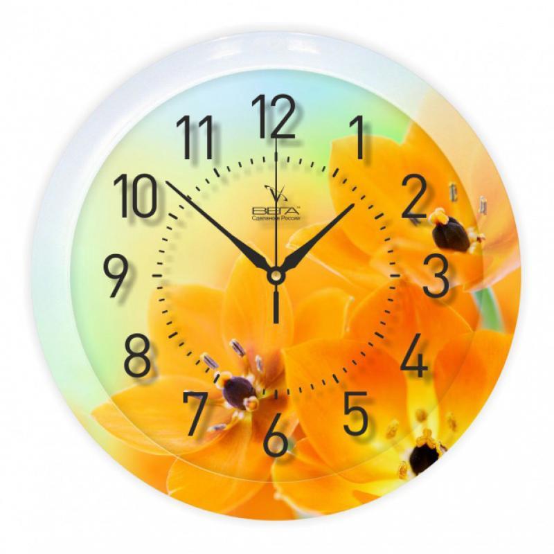 Часы настенные Вега Оранжевое настроениеП1-247/7-247