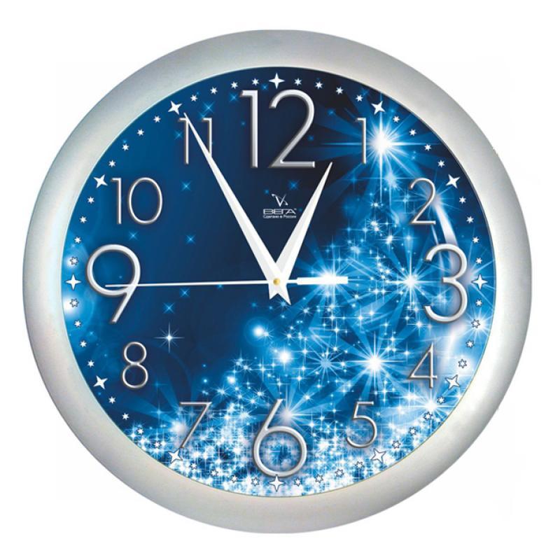 Часы настенные Вега СияниеП1-серебро/7-231Оригинальные настенные часы круглой формы Вега Сияние выполнены из пластика. Часы имеют три стрелки - часовую, минутную и секундную. Необычное дизайнерское решение и качество исполнения придутся по вкусу каждому. Оформите свой дом таким интерьерным аксессуаром или преподнесите его в качестве презента друзьям, и они оценят ваш оригинальный вкус и неординарность подарка.Часы работают от 1 батарейки типа АА напряжением 1,5 В (в комплект не входит).
