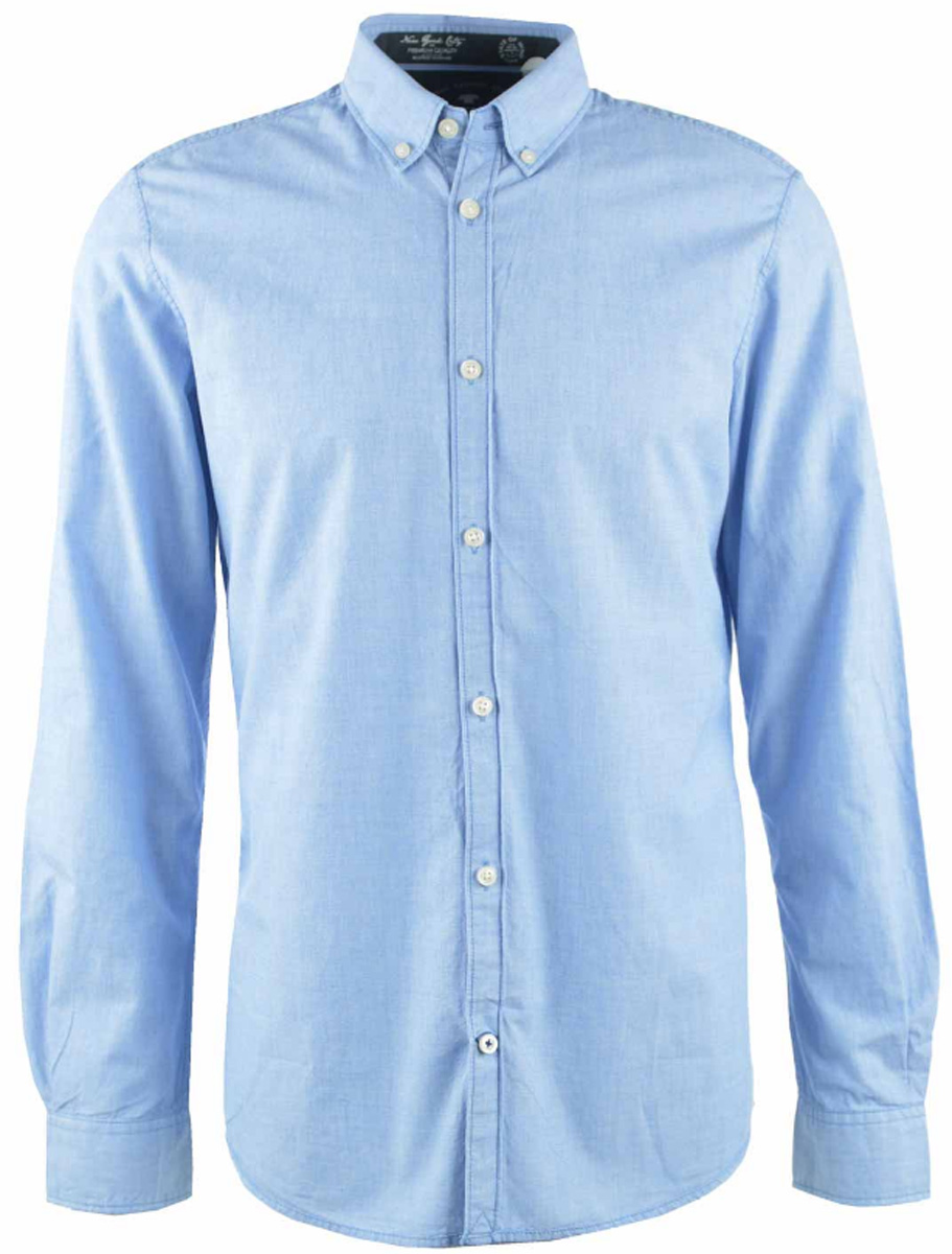 Рубашка мужская Tom Tailor, цвет: голубой. 2032635.00.10_6930. Размер L (50) футболка мужская tom tailor цвет бордовый 1038245 09 12 4257 размер l 50