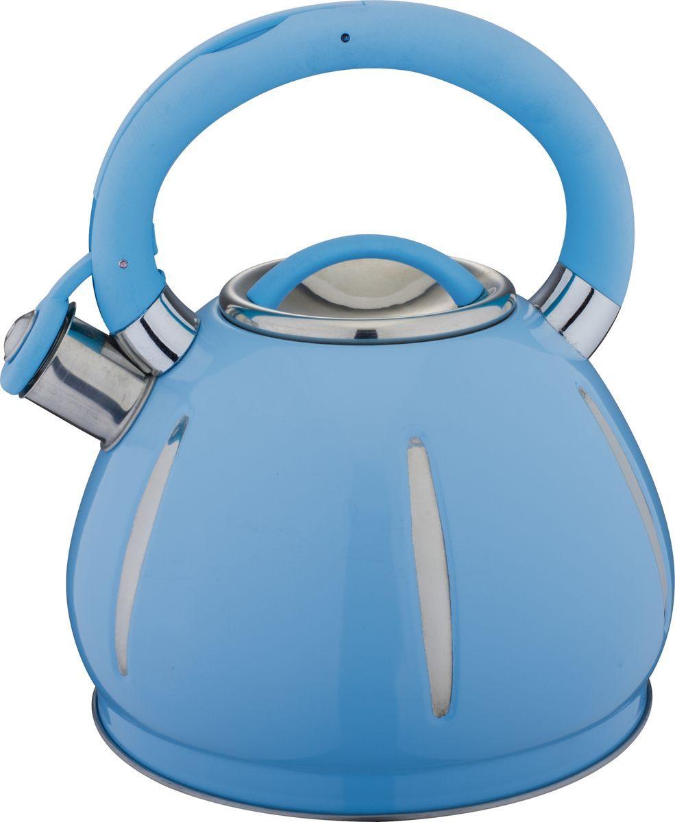 Чайник Bekker, со свистком, цвет: синий, 3 л. BK-S589BK-S589Чайник Bekker выполнен из высококачественной нержавеющей стали и силикона, что обеспечивает долговечность использования. Металлическая фиксированная ручка делает использование чайника очень удобным и безопасным. Чайник снабжен свистком и устройством для открывания носика, которое находится на ручке. Изделие оснащено капсулированным дном для лучшего распространения тепла.Пригоден для всех видов плит, включая индукционные.