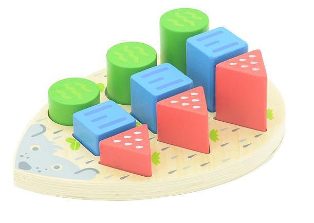Игрушки из дерева Сортер Ежик конструкторы игрушки из дерева трамвай