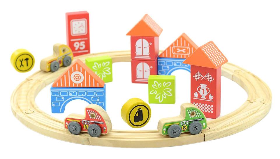 Игрушки из дерева Трасса Гран-при - Транспорт, машинки