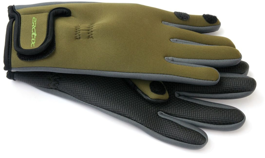 Перчатки Arctix для рыбалки, цвет: оливковый. 807-00051. Размер XXL (27)807Перчатки применяются для рыбалки, охоты, туризма, альпинизма и других видов активного отдыха. Качественный материал обладает высокой защитой от ветра и от влаги, что делает область применения аксессуара очень широкой. Указательный и большой пальцы перчаток имеют прорезь и могут крепиться на липучке, освобождая пальцы. Данная особенность позволяет рыбакам без труда и дискомфорта насадить приманку. Перчатки имеют удобную застежку на запястье. Непромокаемые.