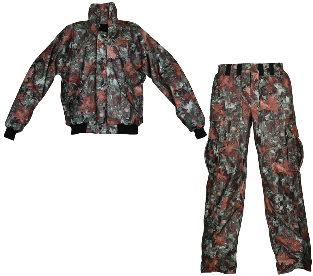 Костюм рыболовный осенний Arctix: куртка, брюки, цвет: камуфляж. 808-00402. Размер L (52)808Одежда для рыбалки изготовлена из 100% флиса и мембранной ткани 5 000/10 000 тем самым обладает дышащими, водо и ветронепроницаемыми свойствами. Брюки имеют эластичный пояс и широкие шлевки под ремень. Контактные зоны брюк усилены накладками. Внизу брюки для рыбалки имеют застежки-молнии, что позволяет быстро надеть одежду не снимая обуви, низ комбинезона оснащен регулируемой манжетой. Брюки абсолютно не шелестят и имеют, карманы на магнитных замках. Куртка абсолютно бесшумная и имеет магнитные замки для карманов. Рукава с трикотажными манжетами и поясом.
