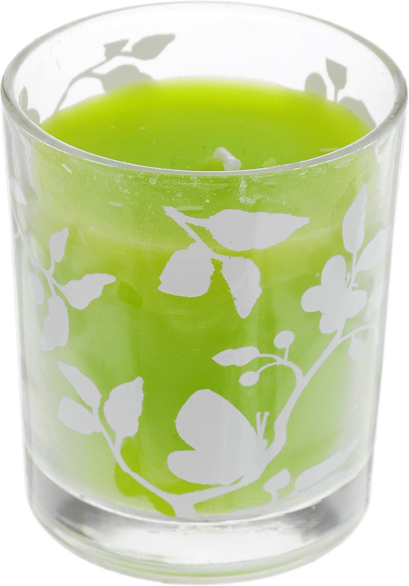 Свеча декоративная Lovemark, цвет: светло-зеленый, 6 х 6 х 7 смn8211-1486Декоративная свеча Lovemark, изготовленная из стеарина и парафина, помещена в подсвечник, выполненный из стекла и декорированный оригинальным рисунком. Такая свеча не только поможет дополнить интерьер вашей комнаты, но и станет отличным подарком.