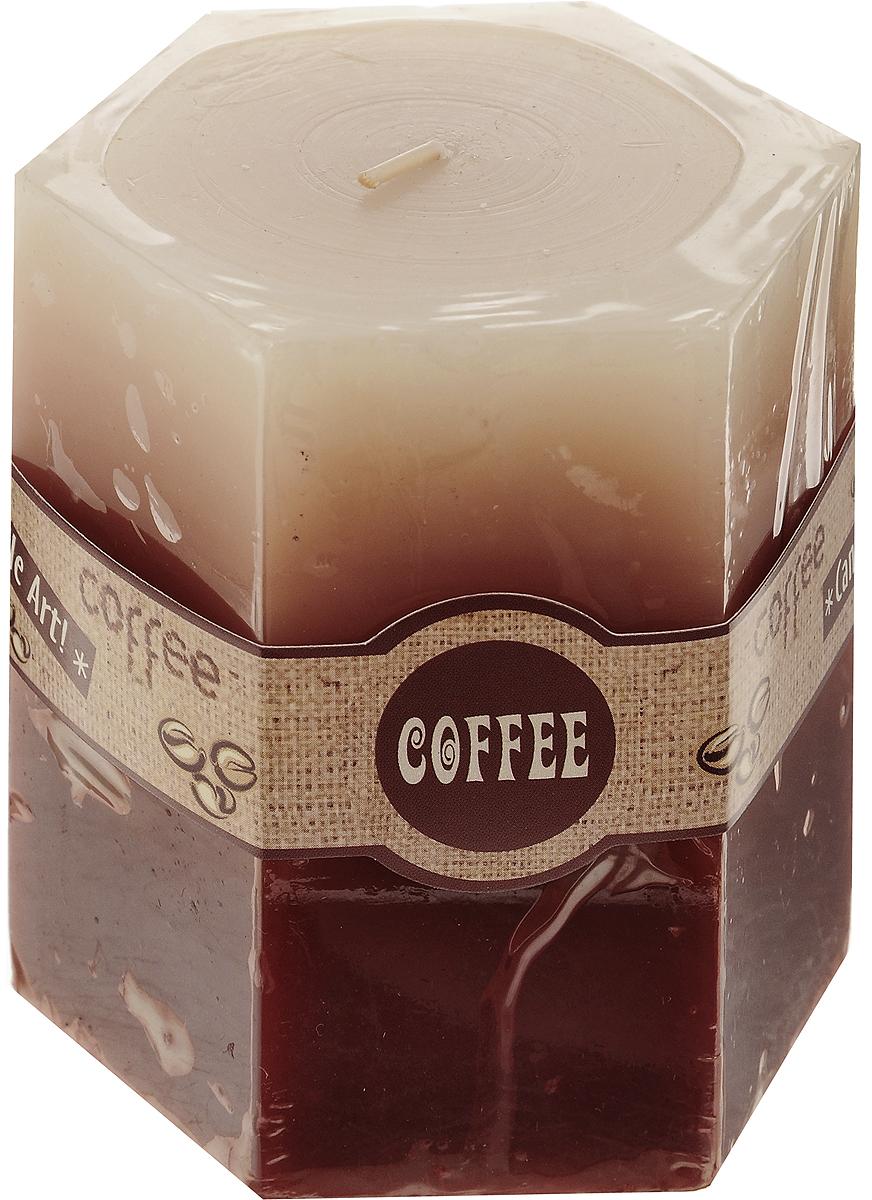 Свеча декоративная Lovemark Кофе, ароматизированная, цвет: бежевый, коричневый, 8 х 7,5 х 9 см08GS1518-COДекоративная свеча Lovemark Кофе изготовлена из высококачественного парафина. Изделие отличается оригинальным дизайном и приятным ароматом кофе.Такая свеча может стать отличным подарком или дополнить интерьер вашей комнаты.