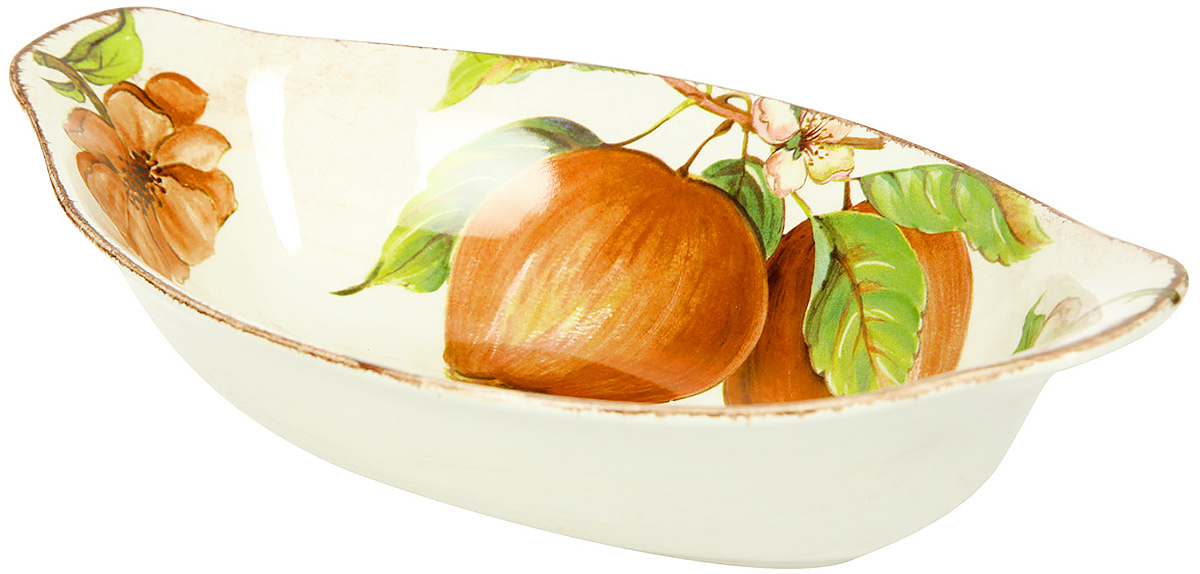Салатник овальный Sestesi, 30 х 17,5 х 6 смFRTT/1031Создание компании, претендующей на мировую популярность, требует наличия определенной изюминки. Фирма Lavorazione Ceramiche Sestesi (LCS) – популярный производитель, известный своими первоклассными изделиями из керамики. Дизайнеры компании разрабатывают разнообразные декоры в современном и классическом стилях, ориентируясь на новомодные тенденции.Изделия снабжены подарочными упаковками, поэтому могут быть преподнесены в качестве подарка к любому торжеству. Собрав набор из различных предметов, вы сможете организовать прекрасный и, что особенно важно, функциональный презент молодоженам, новоселам или просто сделать приятный сюрприз для близкого человека.Прекрасные декоры, ручная роспись, превосходное качество и регулярное обновление коллекций позволило итальянской компании Lavorazione Ceramiche Sestesi достаточно быстро выйти на мировой уровень. Сегодня ее изделия известны далеко за рубежом. Роскошная керамика LCS по вкусу ценителям изысканной посуды, выполненной в флорентийском стиле.