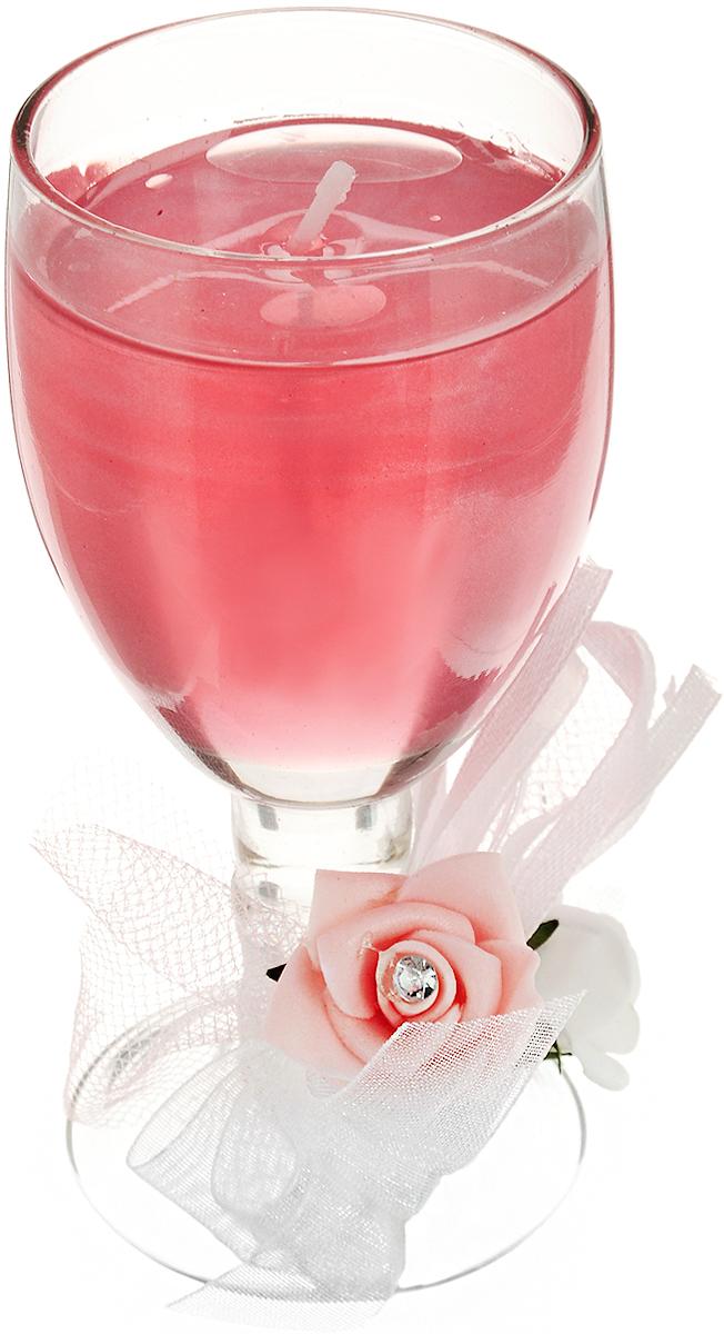 Свеча декоративная Lovemark Розы, 5 х 5 х 11 см10GSS1325-PДекоративная свеча Lovemark Розы, изготовленная из геля и парафина, помещена в подсвечник, выполненный из стекла в виде бокала. Изделие отличается оригинальным дизайном. Такая свеча не только поможет дополнить интерьер вашей комнаты, но и станет отличным подарком.