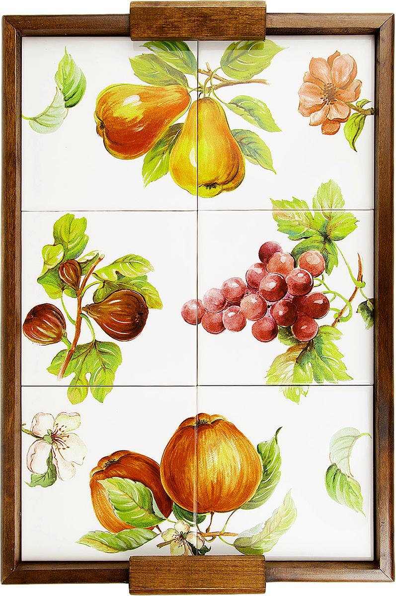 Поднос Sestesi, 47 х 32 х 3 смFRTT/V30/45Поднос Sestesi изготовлен из керамики и дерева. Изделие прекрасно перенесет длительную эксплуатацию и надолго сохранит свой шарм древесной структуры и природные качества. Поднос украшен красивым изображением фруктов и цветов.Поднос - это великолепное решение для подарка и истинный комплимент вашим любимым и близким людям. С ним вы с легкостью сможете подать кофе, завтрак в постель или вынести на веранду гостям закуски и фрукты.Помимо функциональной пользы, данное изделие изысканно дополнит интерьер помещения в качестве настенного украшения и внесет уют в домашнее пространство.