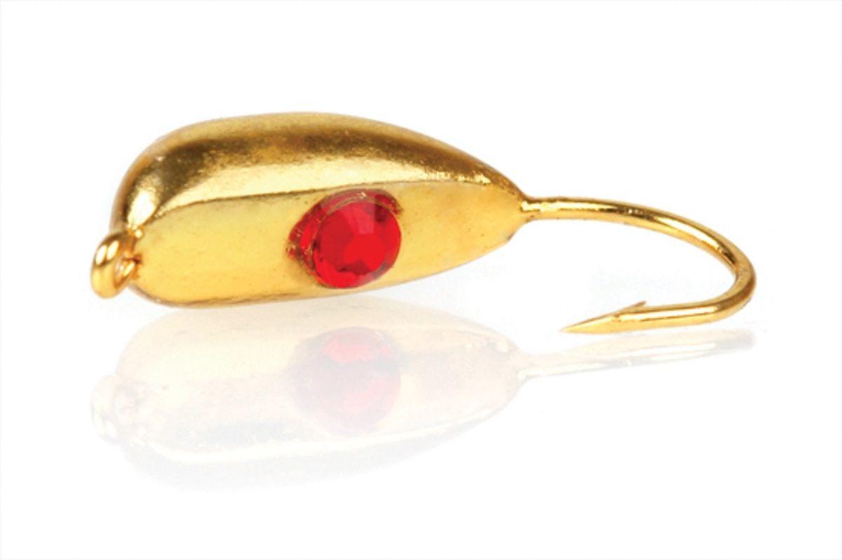 Мормышка вольфрамовая Asseri Рижский банан Swarovski, цвет: золотой, красный, 2,6 г, 5 штВ8- SGo+Мормышка Asseri Рижский банан Swarovski изготовлена из вольфрама и оснащена крючком. Изделие бликует в воде, что делает ее более привлекательной для хищных рыб. Кристалл имитирует глазик краба.Главное достоинство вольфрамовой мормышки - большой вес при малом объеме. Эта особенность дает большие преимущества при ловле, так как позволяет быстро погрузить приманку на требуемую глубину и лучше чувствовать игру мормышки.Размер: 4,8 х 11 мм.