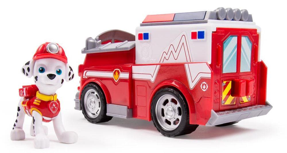 Paw Patrol Игровой набор Машинка спасателя и щенок Marshall тренировочный центр paw patrol