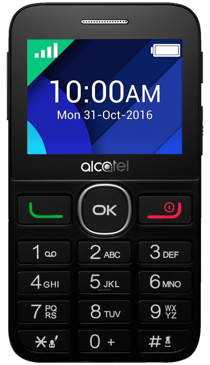 Alcatel 2008G, Black мобильный телефон alcatel 2008g tiger xtm silver серебристый