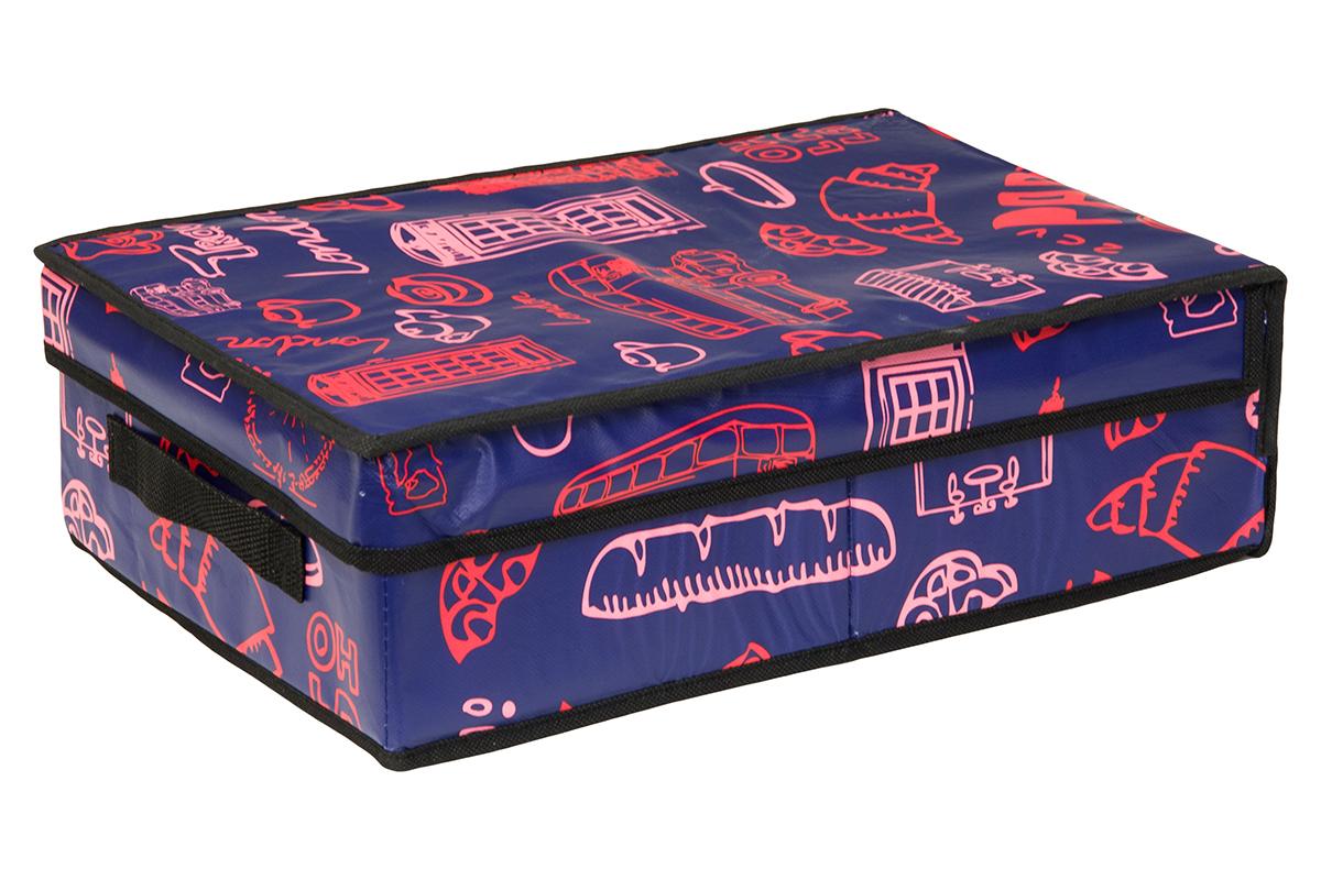 Кофр для хранения EL Casa Европа, складной, 27 х 41 х 12 см370359Кофр для хранения представляет собой закрывающуюся крышкой коробку жесткой конструкции, благодаря наличию внутри плотных листов картона. Специально предназначен для защиты Вашей одежды от воздействия негативных внешних факторов: влаги и сырости, моли, выгорания, грязи. Позволит организовать хранение перчаток, ремней, шарфов. Имеет ручку для переноски.