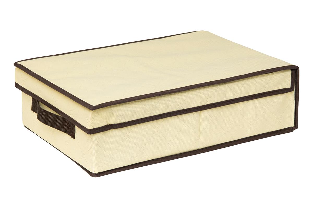 Кофр для хранения EL Casa Геометрия стиля, складной, цвет: молочный, 27 х 41 х 12 см370361Кофр для хранения представляет собой закрывающуюся крышкой коробку жесткой конструкции, благодаря наличию внутри плотных листов картона. Специально предназначен для защиты Вашей одежды от воздействия негативных внешних факторов: влаги и сырости, моли, выгорания, грязи. Позволит организовать хранение перчаток, ремней, шарфов. Имеет ручку для переноски.