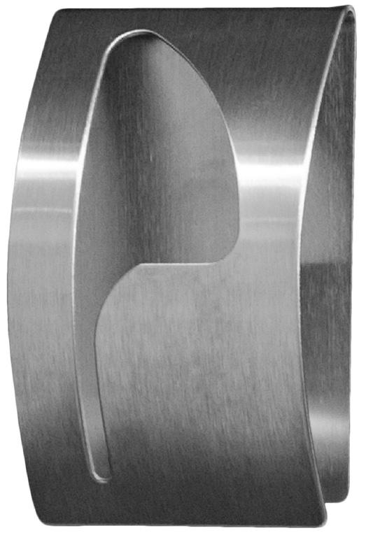 """Вешалка Tatkraft """"Point"""" - самоклеящаяся вешалка для полотенец из нержавеющей стали, не боится влаги, удобна в использовании. Легкая установка (инструкция на упаковке), надежный клеевой слой, выдерживает вес до 5 кг."""