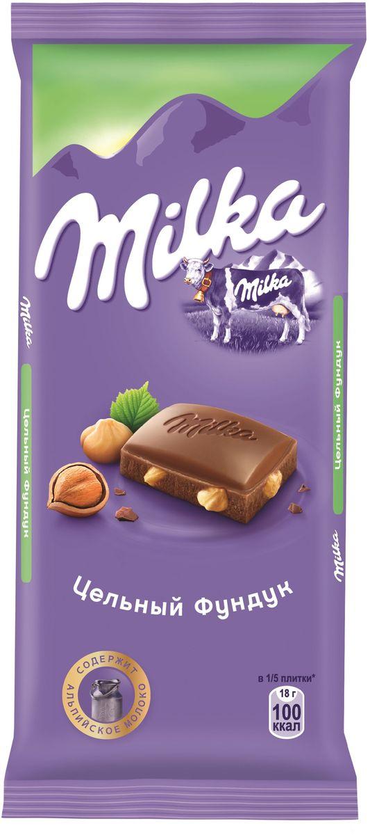 Milka шоколад молочный с цельным фундуком, 90 г4001812, 402153617 ноября 1825 года швейцарский шоколатье и пекарь Филипп Сушард (1797-1884) открыл в Нушатель, Швейцария, пекарню, где он продавал десерты ручной работы. В течение следующего года производство стремительно расширялось, и фабрика была перенесена в соседний Серрер, в помещение, занимаемое ранее водяной мельницей; Филипп ежедневно продавал уже по 25-30 килограммов шоколада Milka.В течение 1890-ых в шоколадную продукцию Suchard начало добавляться молоко. Согласно Хорватским источникам, название для шоколадной продукции Милка было выбрано Филиппом в знак его страсти, почтения и симпатии к хорватской сопрано-певице Милке Терниной (1863-1941).В 1970 компания Suchard слилась со швейцарским производителем Toblerone, образовав этим слиянием Interfood. В 1982 Interfood была объединена с кофейной компанией Jacobs, превратившись в Jacobs Suchard, которая вскоре была приобретена, (включая бренд Milka), компанией Kraft Foods. В октябре 2012 года компания была переименована в Mondelez International.