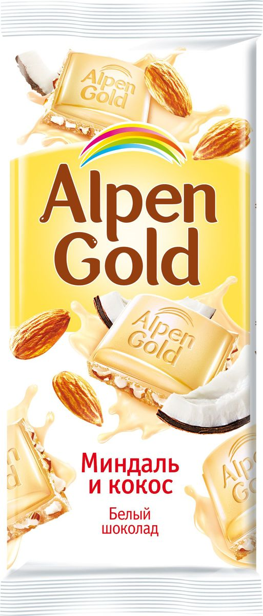 Alpen Gold шоколад белый с миндалем и кокосовой стружкой, 90 г n010 0518 x262 01 tw brand new and original touch screen well tested working three months warranty